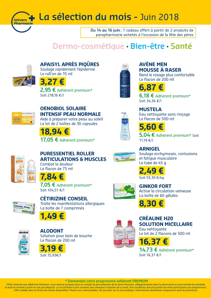 Univers pharmacie aout